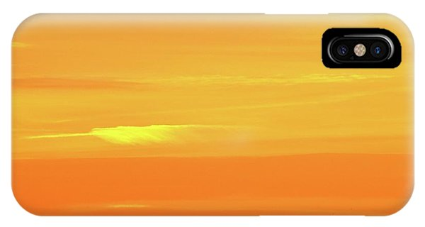 Feather Cloud In An Orange Sky  IPhone Case