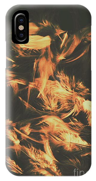 Tender iPhone Case - Feathers And Darkness by Jorgo Photography - Wall Art Gallery