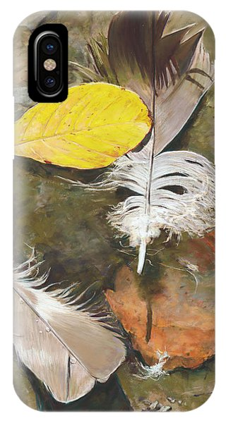 Feathers And Leaves IPhone Case