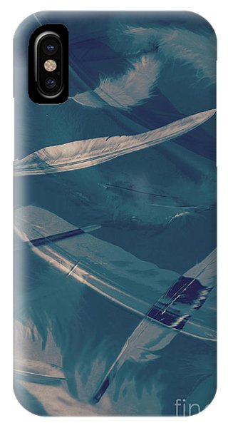 Serenity iPhone Case - Feathers Floating In The Air by Jorgo Photography - Wall Art Gallery