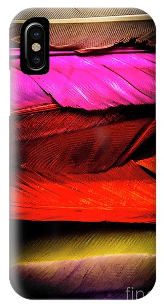 Plumes iPhone Case - Feathers Of Rainbow Color by Jorgo Photography - Wall Art Gallery