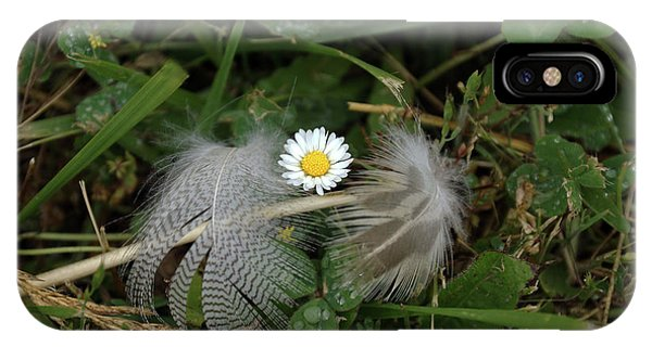 IPhone Case featuring the photograph Feathers On The Lawn #2 by Ben Upham III