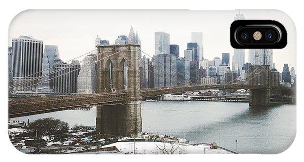 New York City iPhone Case - February Freeze by Natasha Marco