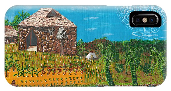 February  Mayan Farm IPhone Case