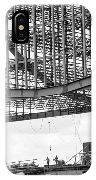 IPhone Case featuring the photograph Federal Reserve Construction by Mike Evangelist