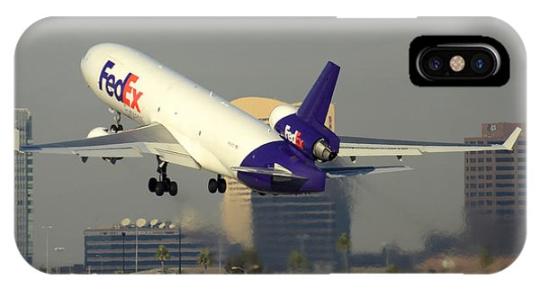 Fedex Express Mcdonnell-douglas Md-11f N631fe Phoenix Sky Harbor December 20 2015  IPhone Case