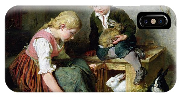 Lettuce iPhone Case - Feeding The Rabbits by Felix Schlesinger