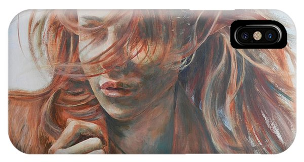 IPhone Case featuring the painting Feel The Wind by John Neeve