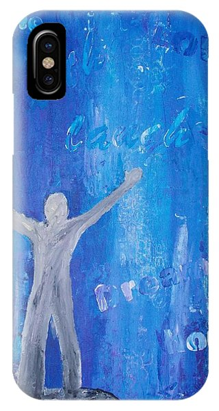 Samantha iPhone Case - Feeling On Top Of The World by Samantha Whitten
