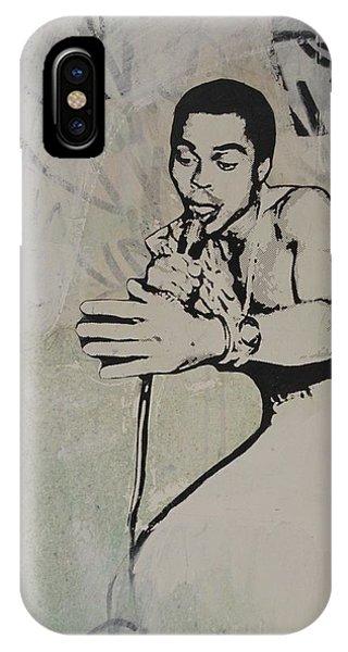 Fred Hampton iPhone X Case - Fela Kuti by Dustin Spagnola
