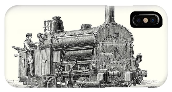 Fell's Locomotive For The Rail Central Railway IPhone Case