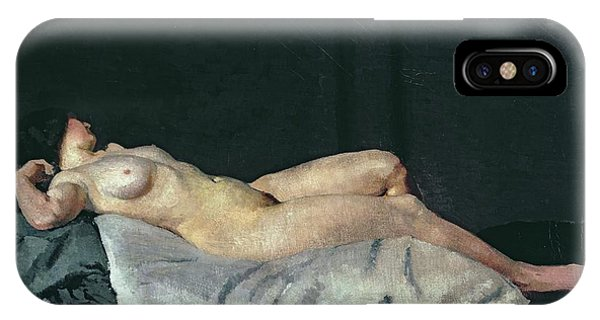 Women iPhone Case - Female Figure Lying On Her Back by Dora Carrington