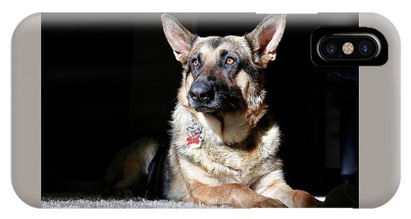 Female German Shepherd IPhone Case