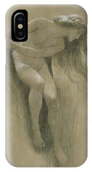 Figures iPhone Case - Female Nude Study  by John Robert Dicksee