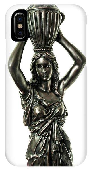 Female Water Goddess Bronze Statue 3288a IPhone Case