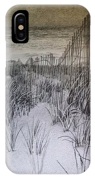 Fence In The Dunes IPhone Case