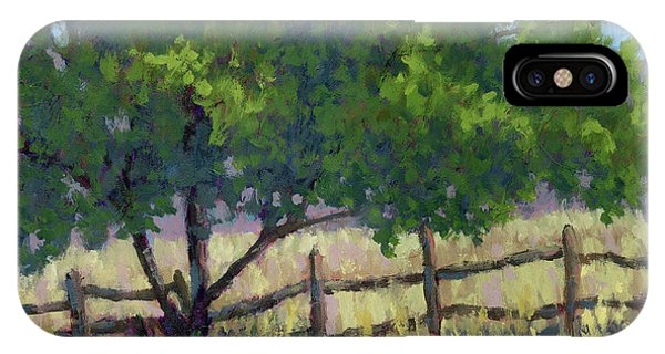 Fence Line Tree IPhone Case