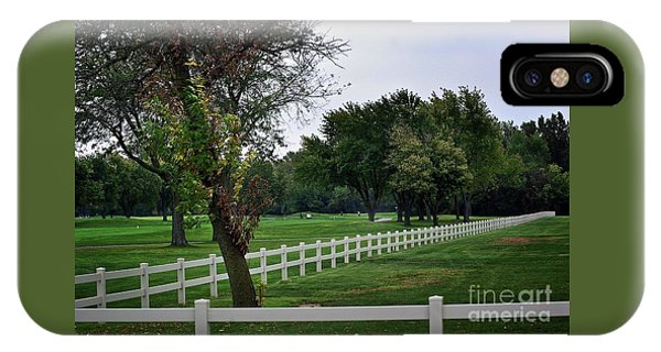 Fence On The Wooded Green IPhone Case