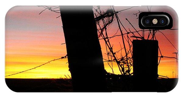 Fence Sunrise IPhone Case