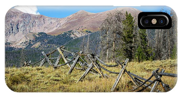 Fences Into The Rockies IPhone Case