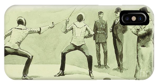 Fencing At Dickel's Academy IPhone Case