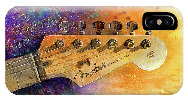 Guitar iPhone Case - Fender Head by Andrew King