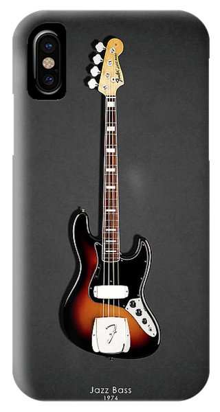 Guitar iPhone Case - Fender Jazzbass 74 by Mark Rogan