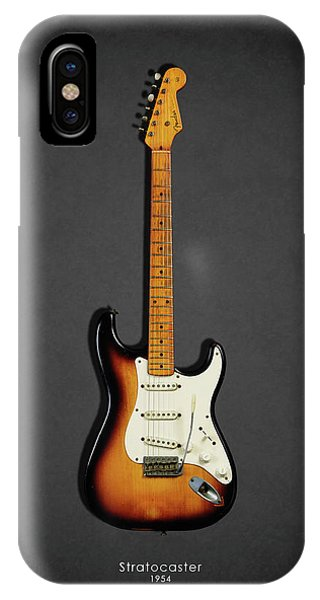 Electric Guitar iPhone Case - Fender Stratocaster 54 by Mark Rogan