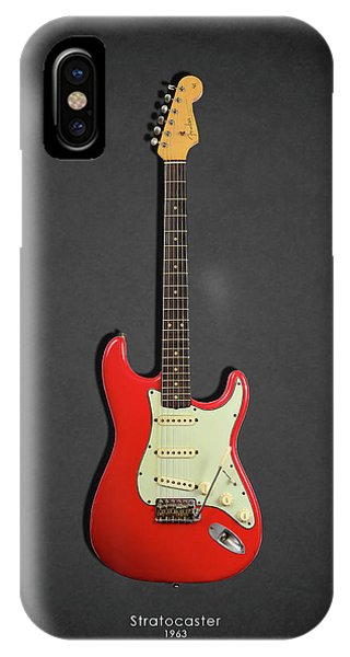 Electric Guitar iPhone Case - Fender Stratocaster 63 by Mark Rogan