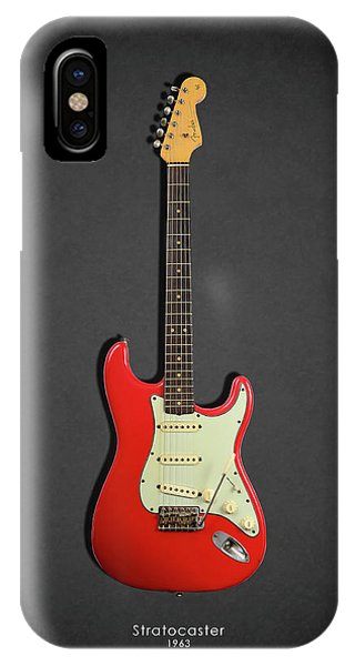 Guitar iPhone Case - Fender Stratocaster 63 by Mark Rogan