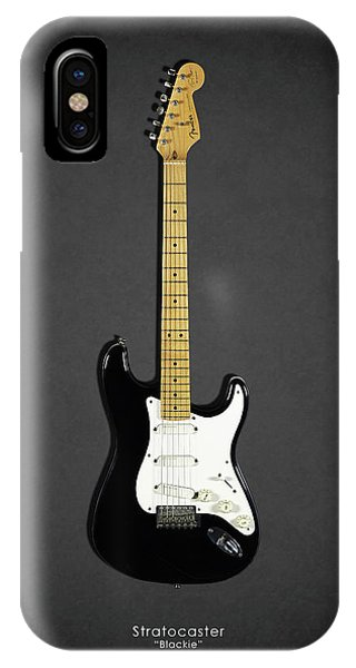 Electric Guitar iPhone Case - Fender Stratocaster Blackie 77 by Mark Rogan