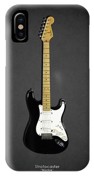 Eric Clapton iPhone Case - Fender Stratocaster Blackie 77 by Mark Rogan