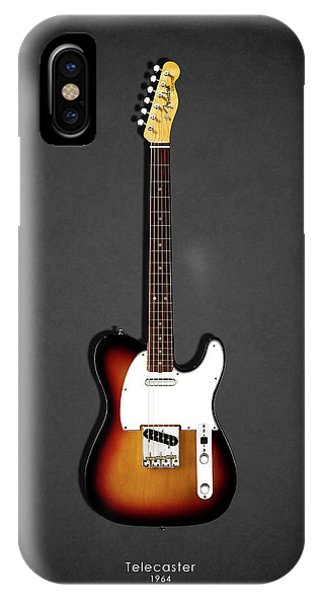 Electric Guitar iPhone Case - Fender Telecaster 64 by Mark Rogan