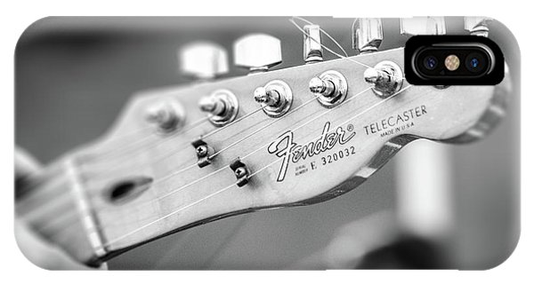 Fender Telecaster Monochrome - Detail IPhone Case