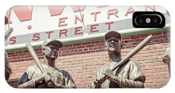 Fenway Park Bronze Statues Panorama Photo IPhone Case