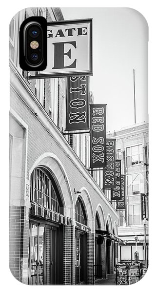 Red Sox iPhone Case - Fenway Park Gate E Entrance Black And White Photo by Paul Velgos
