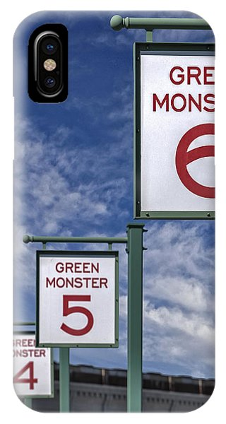 Fenway Park Green Monster Section Signs IPhone Case