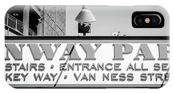 Fenway Park Sign Black And White Panoramic Photo IPhone Case