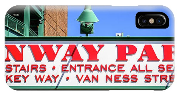 Fenway Park Sign Gate D Entrance Panorama Photo IPhone Case