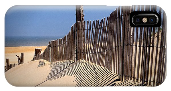 Fenwick Dune Fence And Shadows IPhone Case