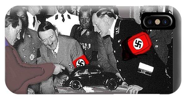 Ferdinand Porsche Showing The Prototype Of The Vw Beetle To Adolf Hitler 1935-2015 IPhone Case