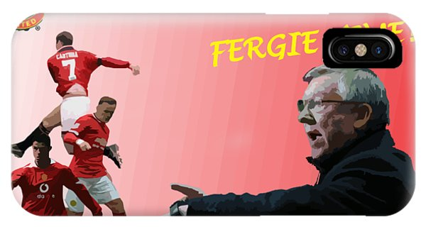Wayne Rooney iPhone Case - Fergie Time by Blue Crescent Studio