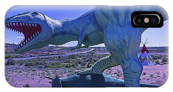 Timeworn iPhone Case - Ferious Dinosaur Trex by Garry Gay