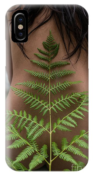 Fern And Woman IPhone Case