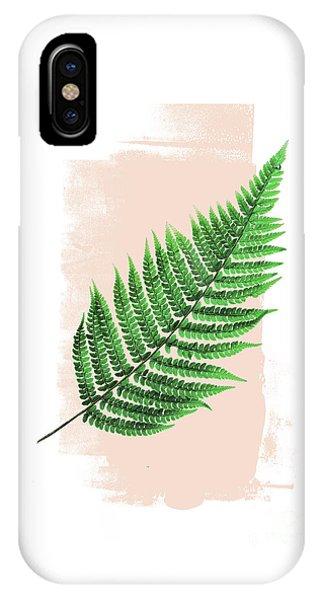 Fern Leaf On Pink IPhone Case