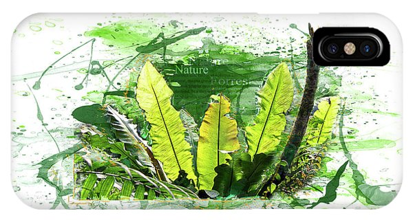 Tropes iPhone Case - Fern, Leaves, Jungle by Gabriele Huller