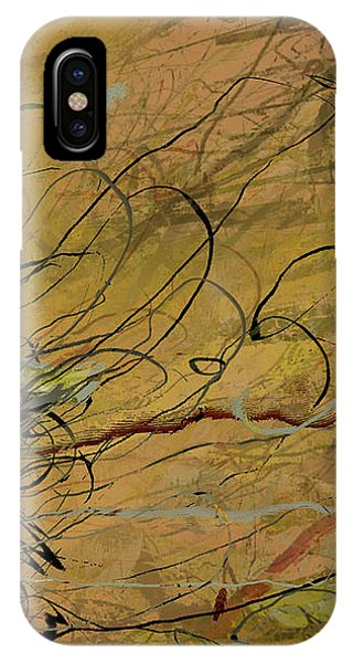 Fern Series Ping To Gray Tendril Detail IPhone Case