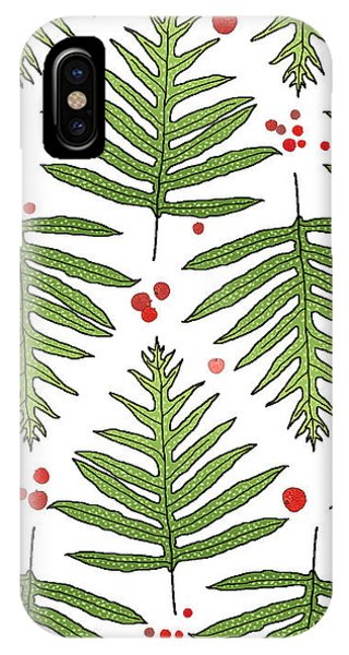 Ferns And Scattered Lychees IPhone Case