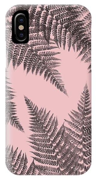 Ferns On Blush IPhone Case