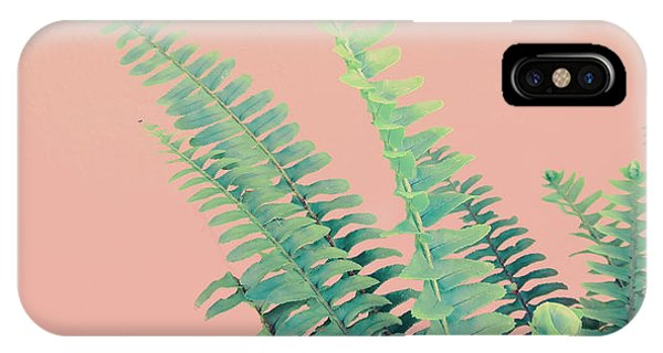 Ferns On Pink IPhone Case